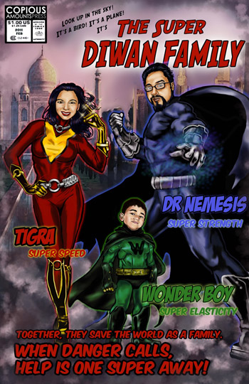 Custom Comic Book Cover by Copious Productions